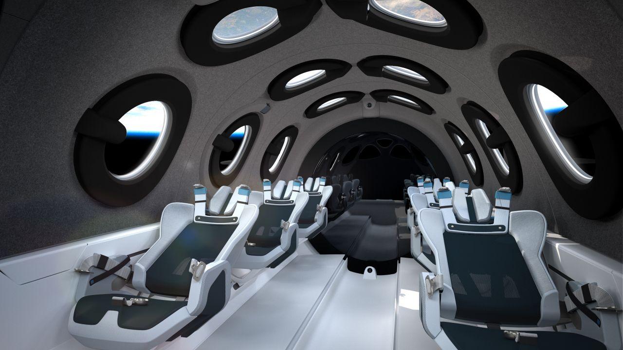 Innenraum des SpaceShipTwo