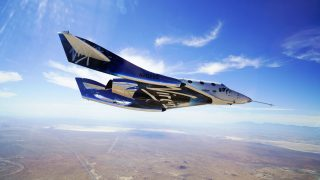 Das SpaceShipTwo im Gleitflug