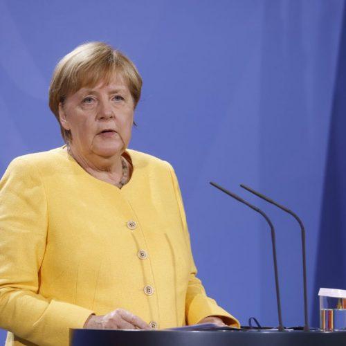 Bundeskanzlerin Angela Merkel bei einer Pressekonferenz im August 2021 in Berlin.