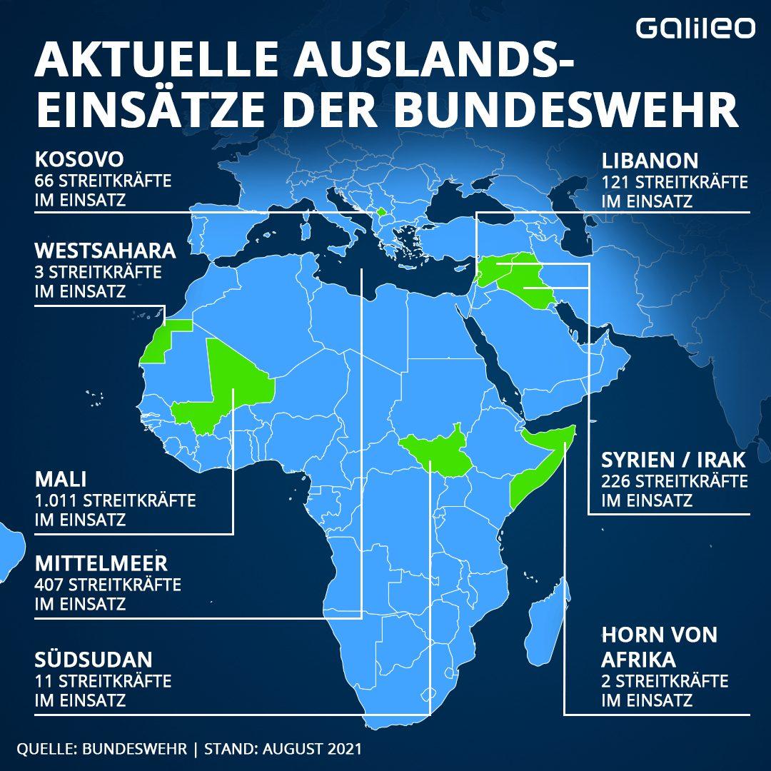 Auslandseinsätze der Bundeswehr weltweit