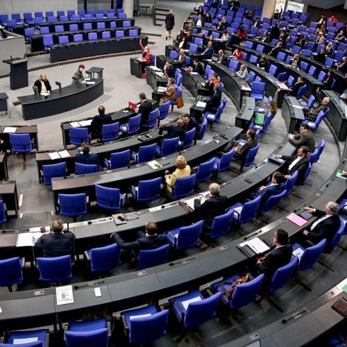 Sitzung des Bundestags in Berlin im Oktober 2020