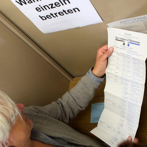 Stimmabgabe bei der Bundestagswahl 2013 in Köln.
