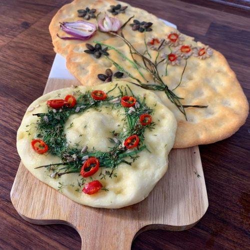 Beim Food Trend Focaccia Garden wird das italienische Fladenbrot gepimpt.