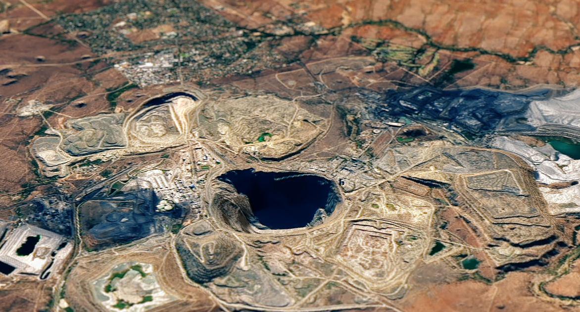 Gold-Tagebau in Südafrika