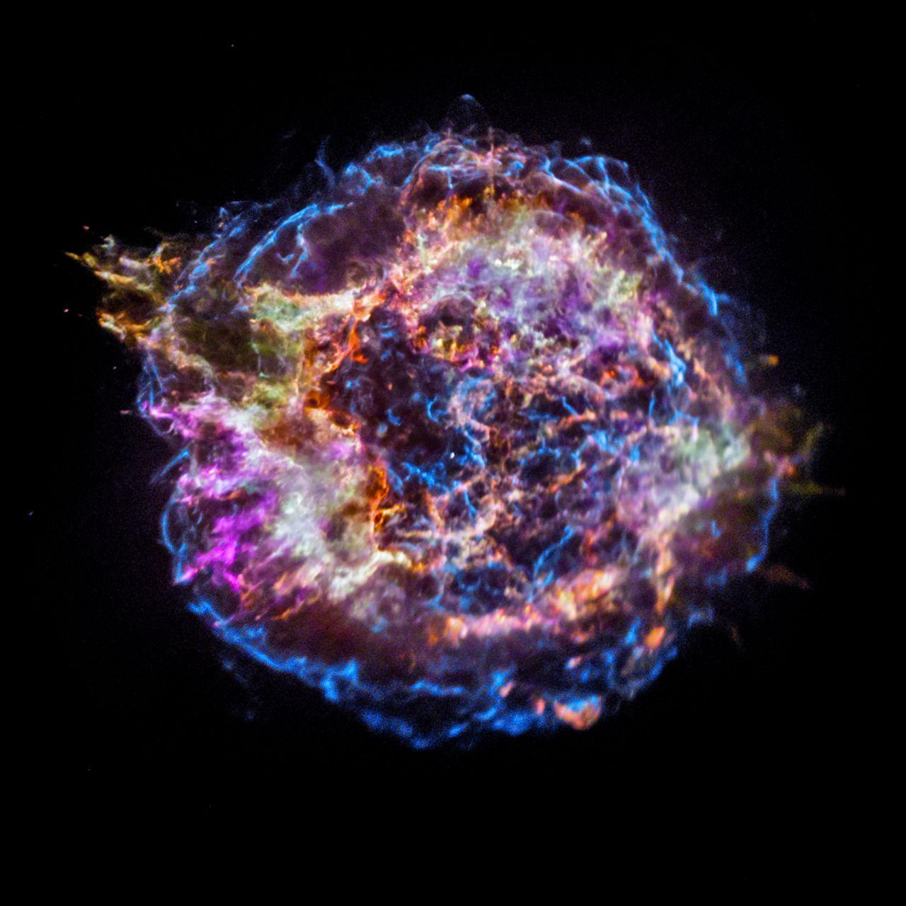 Die Reste der Supernova Cassiopeia A
