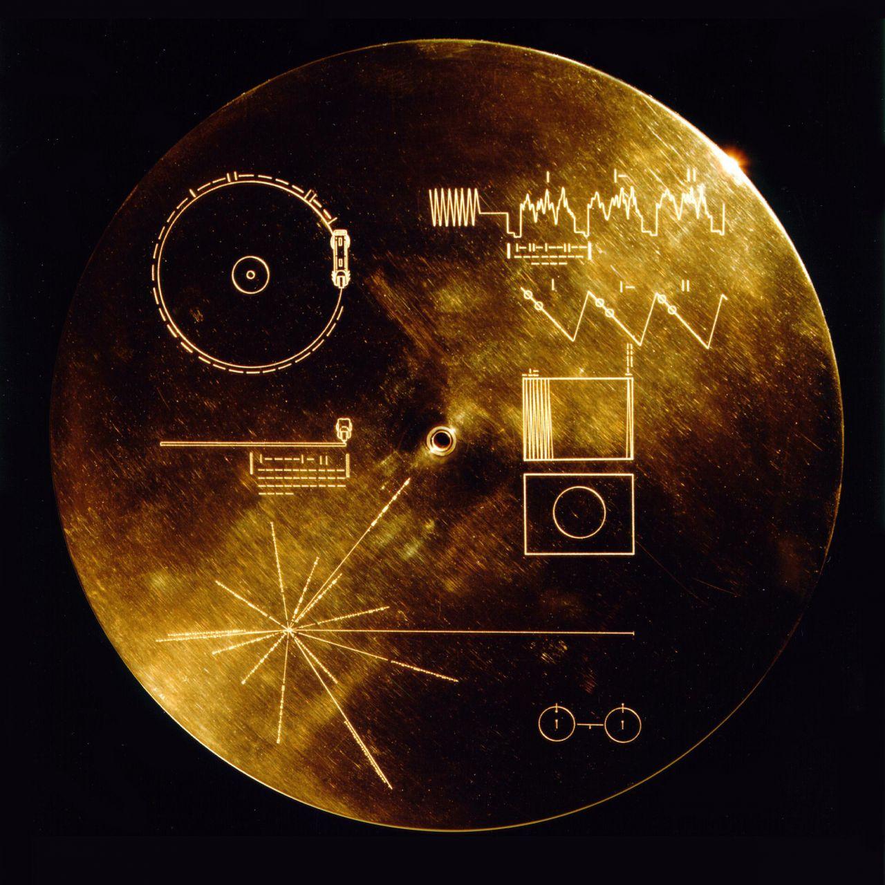 Goldene Schallplatte der Raumsonde Voyager