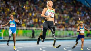 Paralympische Spiele - Läuferin