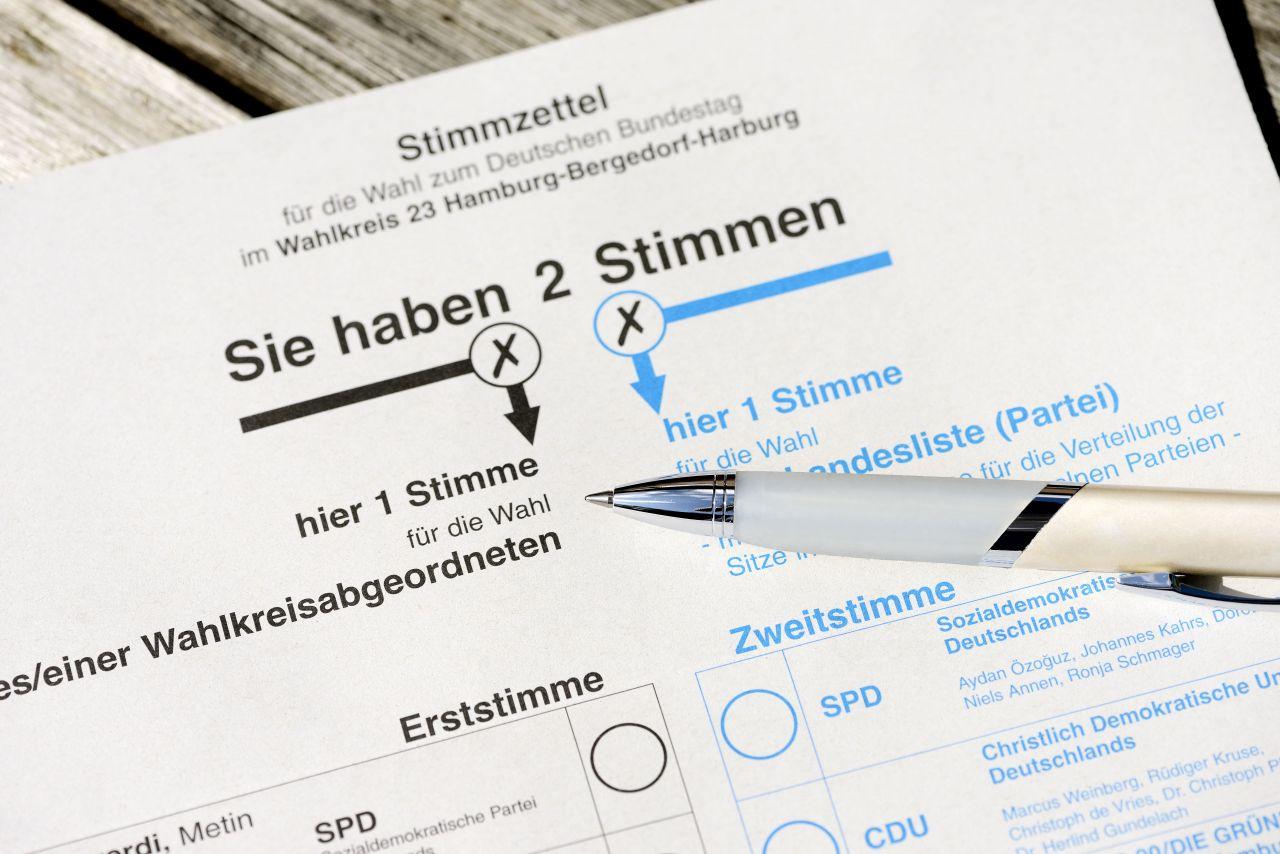 Wie viele Stimmen hat man bei der Bundestagswahl 2021?