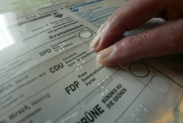 Stimmzettel-Schablone