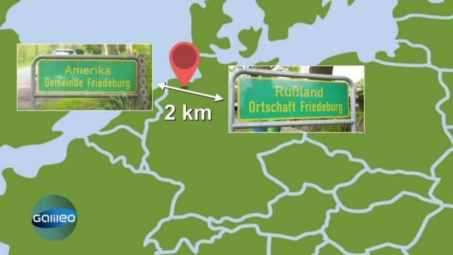 Kuriose Ortsnamen in Deutschland: Amerika und Russland