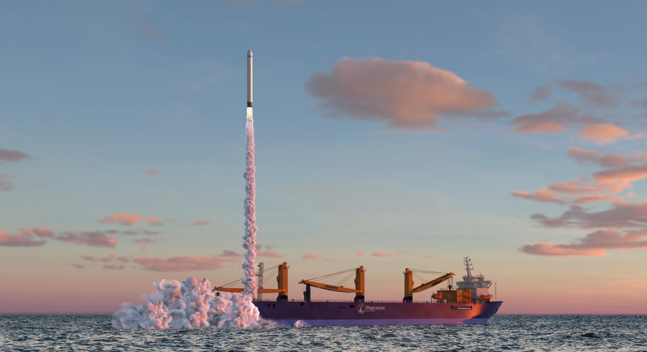 Schwimmender Weltraumbahnhof für Deutschland in der Nordsee