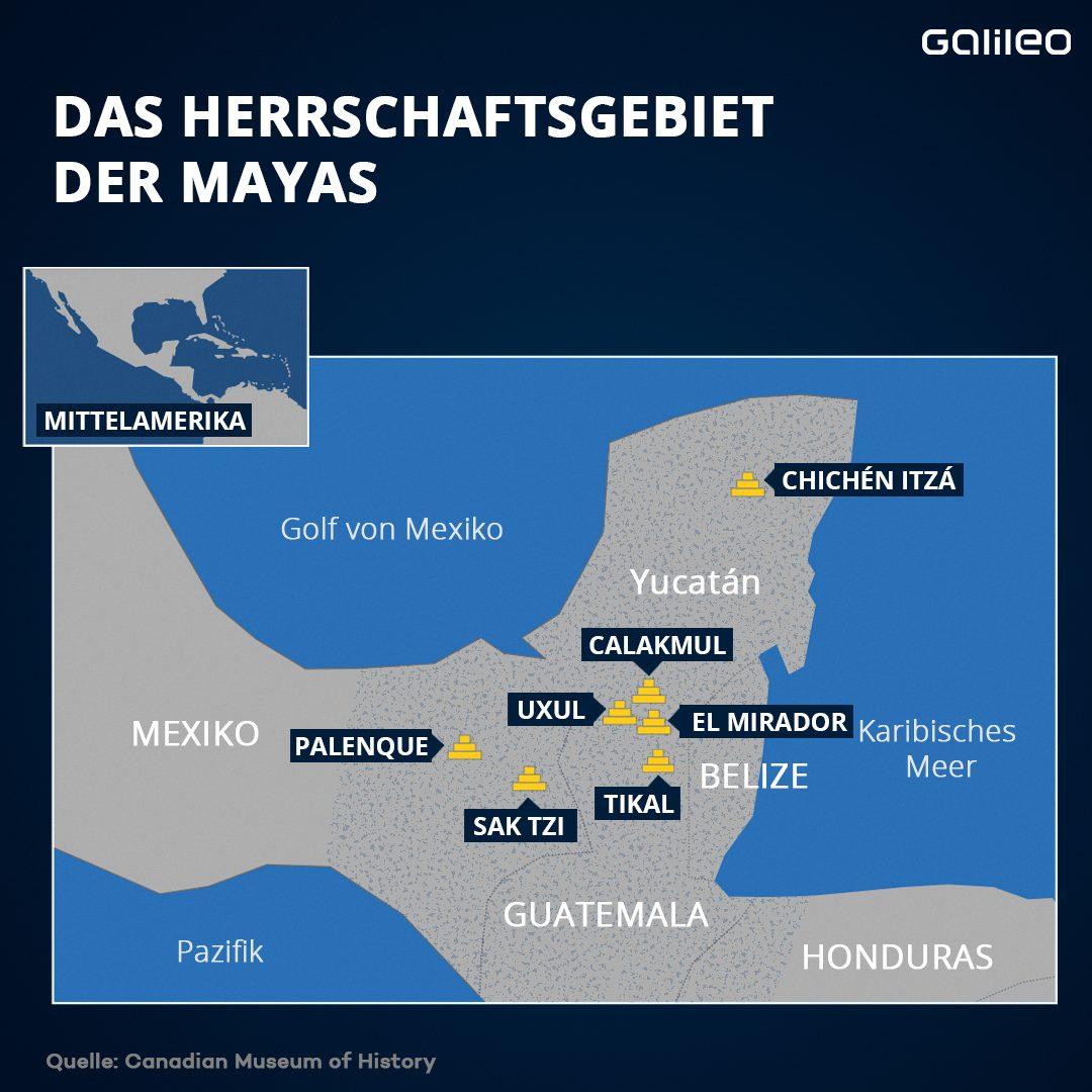Herrschaftsgebiete der Maya