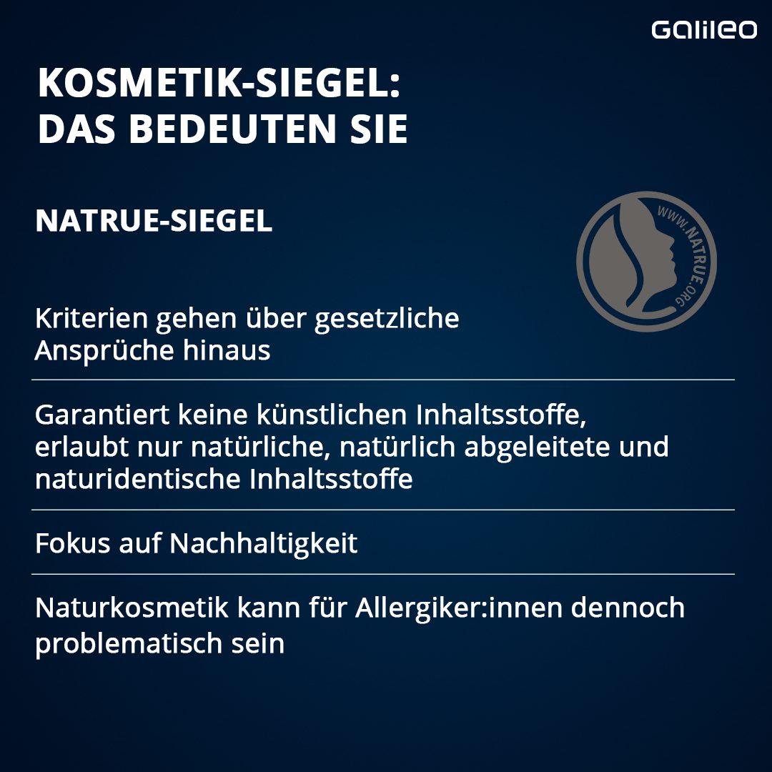Kosmetik-Siegel Übersicht