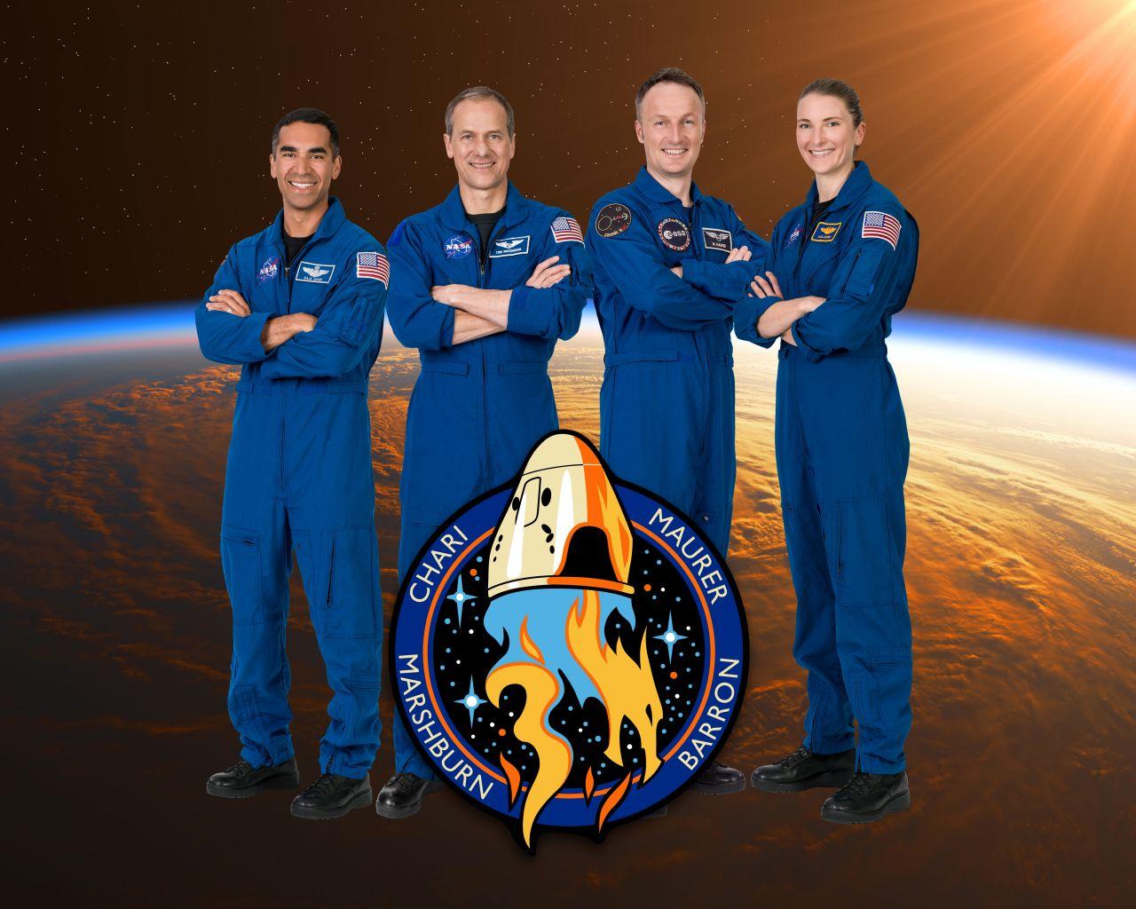 Die Crew von Matthias Maurer