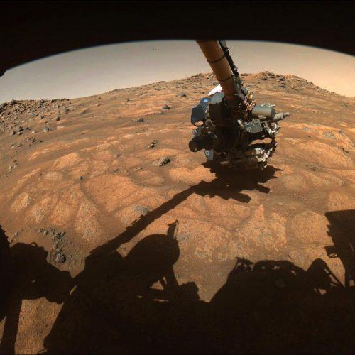 Der Roboterarm von Mars-Rover Perseverance