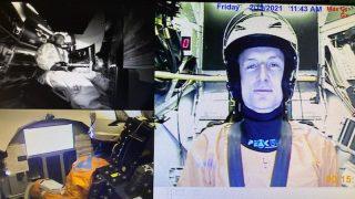 NASA Matthias Maurer beim Training in der Zentrifuge