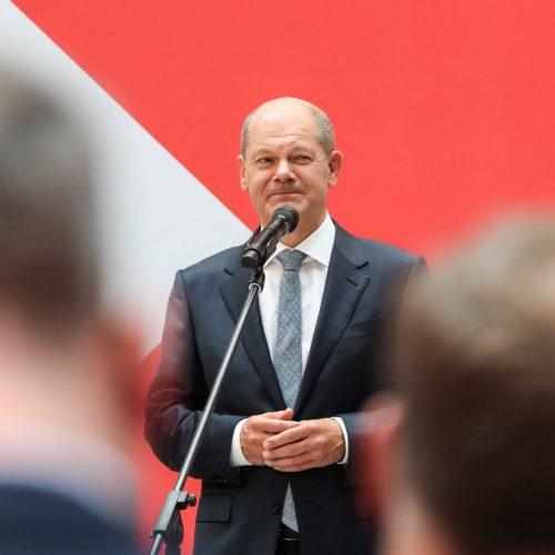 Olaf Scholz nach der Bundestagswahl 2021