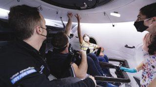 ESA-Astronaut Matthias Maurer beim Training im Crew Dragon