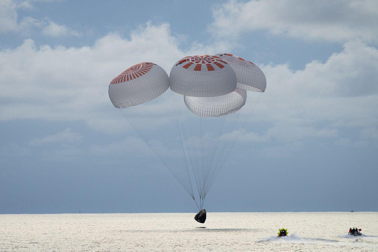 Landung der Inspiration4-Mission