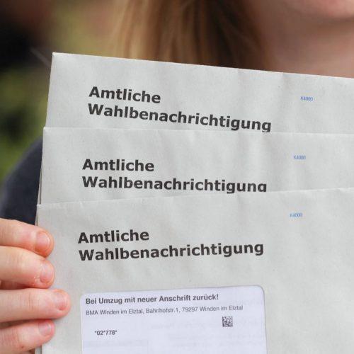 Die Wahlbenachrichtigung für die Bundestagswahl 2021.