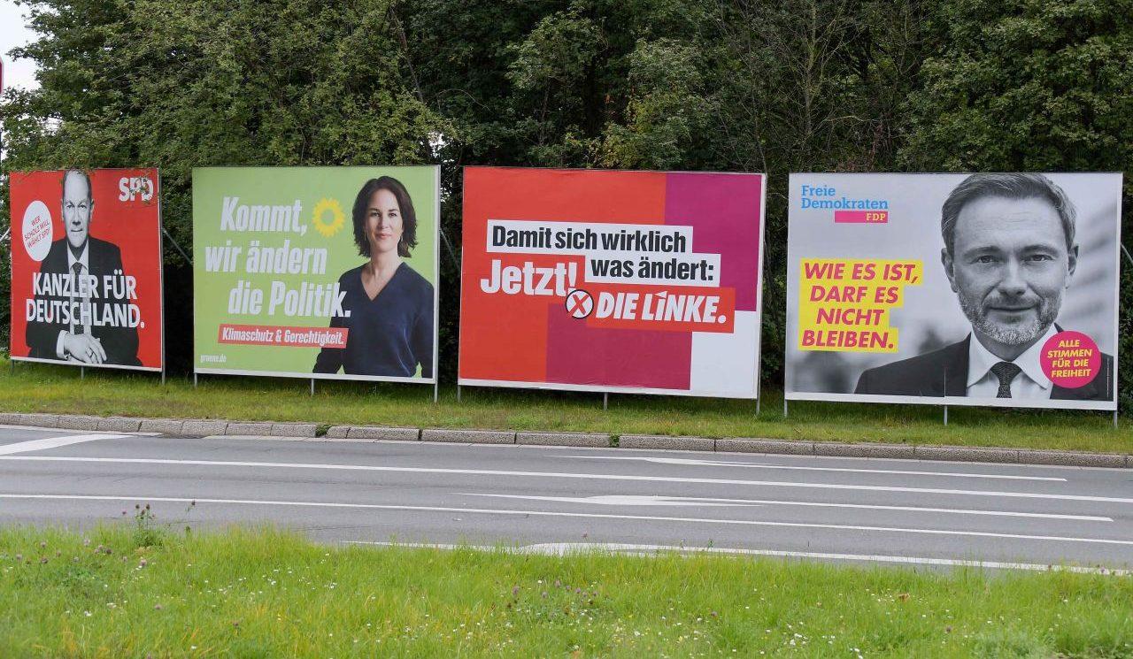 Wahlplakate für die Bundestagswahl 2021 in Oberhausen