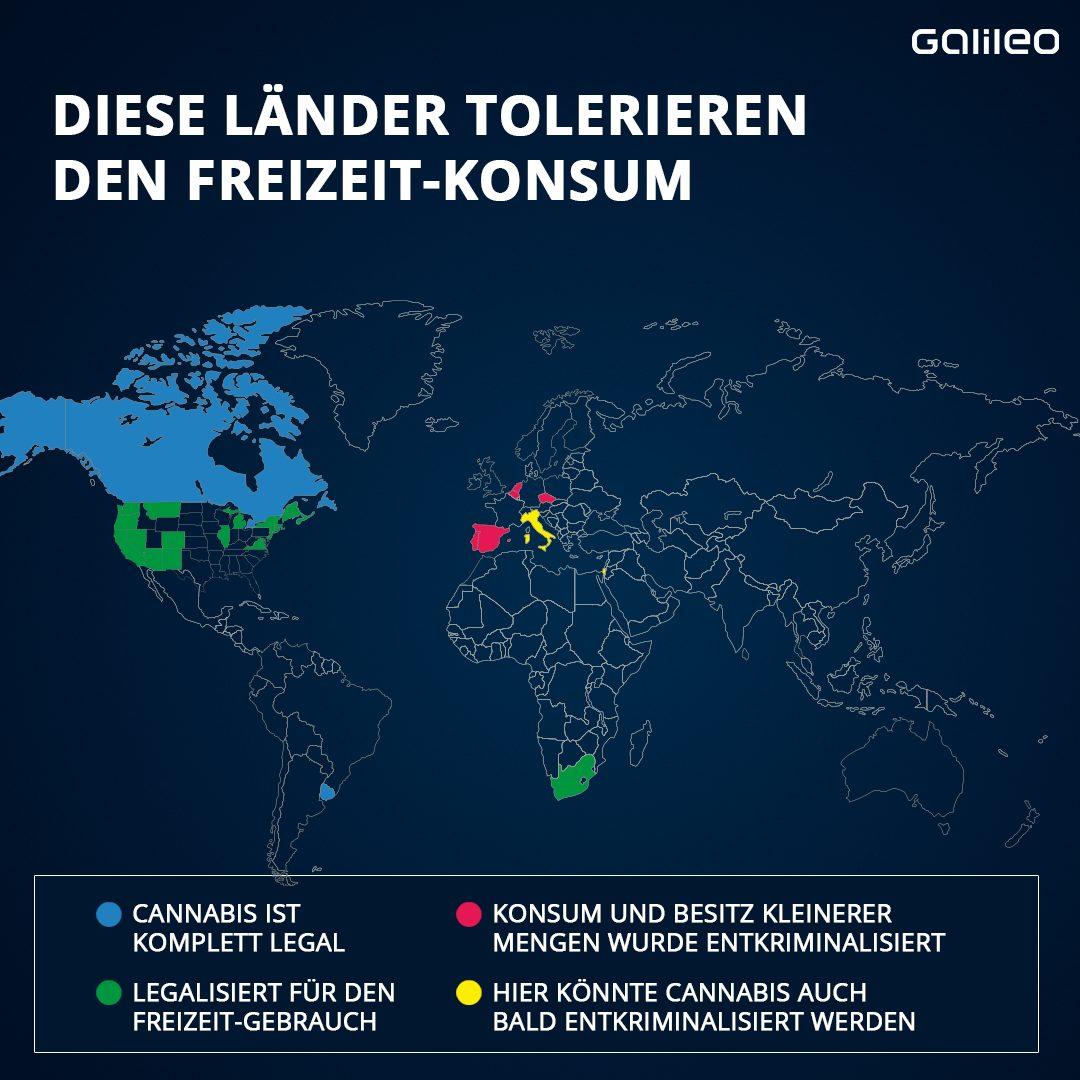 Cannabis-Länder-Gesetze